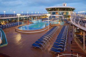 pool deck, main pool, pools, outdoor pool deck, rhapsody of the seas