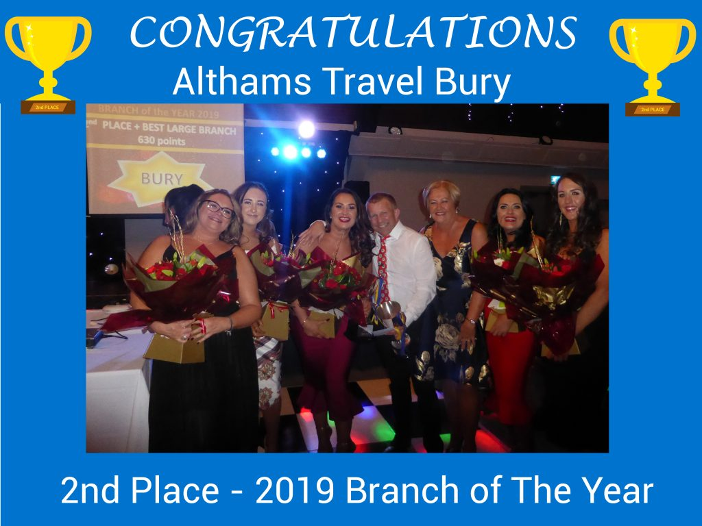 Bury Runner Up Branch of the Year