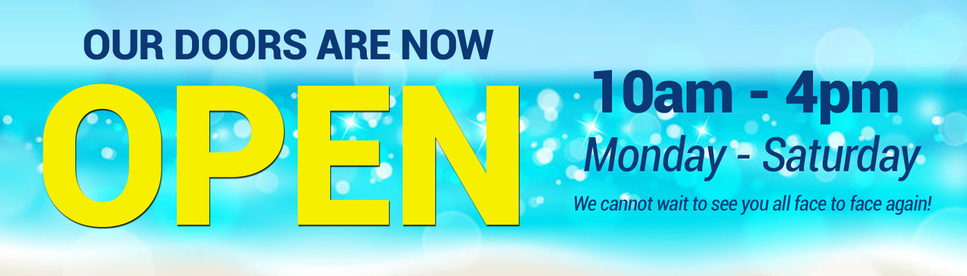 We are open page banner
